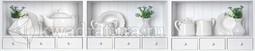Кухонный фартук пластиковый Белый сервиз (2м. / 3м.)
