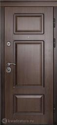 Дверь входная металлическая Дверной континент Порта Темный орех