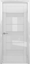 Межкомнатная дверь Фрегат (ALBERO) Прага глянец белый ст матовое