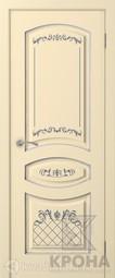 Межкомнатная дверь Крона Прованс 1 Эмаль слоновая кость патина серебро