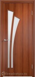 Дверь межкомнатная Дера Лагуна итальянский орех