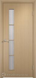 Дверь межкомнатная Дера Вертикаль беленый дуб