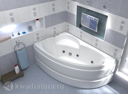 Акриловая ванна Бас Сагра 160*100 БЕЗ ГИДРОМАССАЖА левая/правая