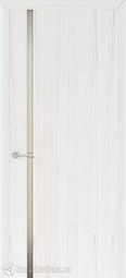 Межкомнатная дверь Океан Шторм-1 ясень белый жемчуг с/о белое