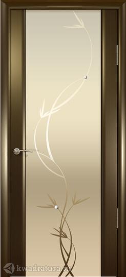 Межкомнатная дверь Океан Шторм-3 с/о белое Растение Венге в Новосибирске