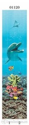 Стеновая панель ПВХ Panda Подводный Мир дельфины 01120