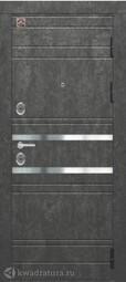 Дверь входная металлическая Центурион С-109 Серый камень/софт белый