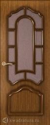 Межкомнатная дверь Румакс Соната Орех со стеклом