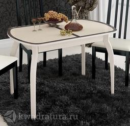 Обеденный стол раздвижной на деревянных ножках Ницца Т15 вариант 6 ТР