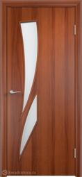 Дверь межкомнатная Дера Стрелиция итальянский орех