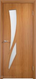 Дверь межкомнатная Дера Стрелиция миланский орех