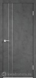 Межкомнатная дверь Velldoris (Веллдорис) TECHNO M2 с замком Муар темно-серый, глухое
