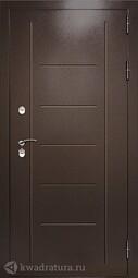 Дверь входная металлическая Дверной континент Термаль Экстра Лиственница белая