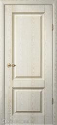Межкомнатная дверь Фрегат (ALBERO) Ренессанс Тициан-1 ПГ Ясень-Голд Патина шампань