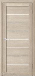 Межкомнатная дверь Фрегат (ALBERO) Т-1 акация кремовая, стекло белое