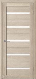 Межкомнатная дверь Фрегат (ALBERO) Т-2 акация кремовая, стекло белое