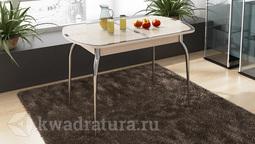 Обеденный стол раздвижной с хромированными ножками Ницца Т1 вариант 6 ТР
