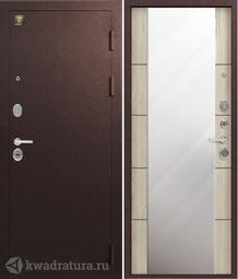 Дверь входная металлическая Зевс Z-8 медь/седой дуб
