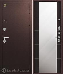 Дверь входная металлическая Зевс Z-8 медь/венге