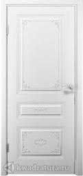 Межкомнатная дверь ДвериХолл Эмилия Эмаль, Белый, глухая