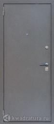 Дверь входная металлическая Зевс Z-4 серебро/серое дерево