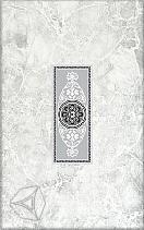 Декор для настенной плитки Цезарь серый 1 25*40 см