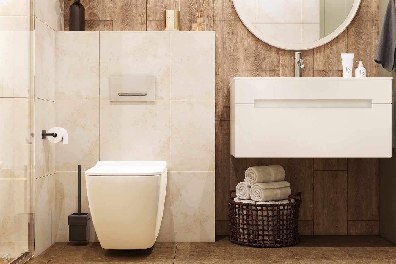 Ванная комната в эко- стиле