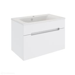Тумба подвесная Aqua de Marco Оливия белый, 1 ящик, 80 см с умывальником